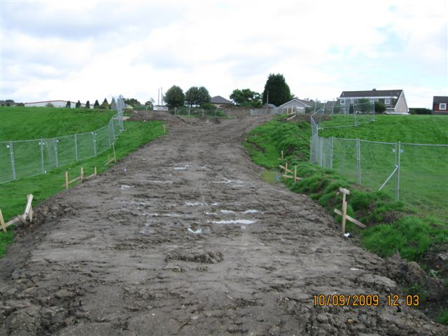 New cyclepath construction as part of realignment of NCN75