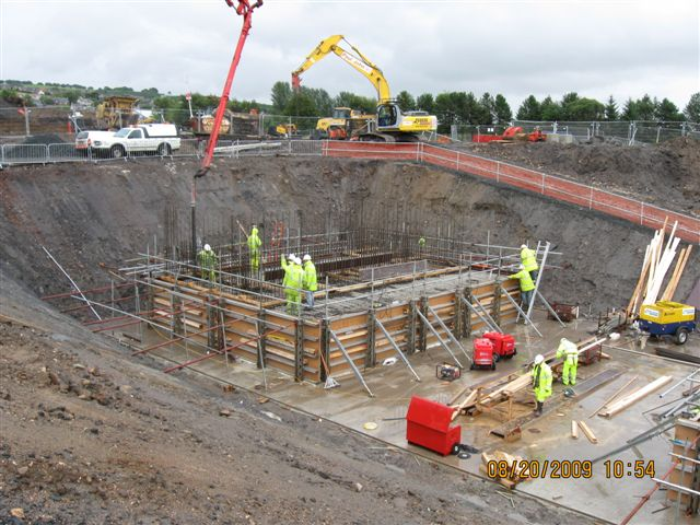 Construction of one the many overbridges on Airdrie Bathgate Railway Reopening